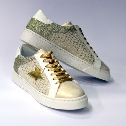 Findlay - Sneakers bianche stella oro