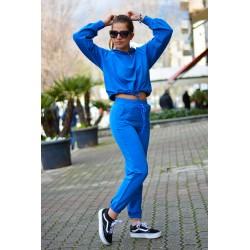 PDK - Tuta coordinata fashion azzurro