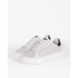 Gio Cellini - Sneakers bianche con strass