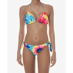 Gio Cellini -Bikini multicolor con fascia e triangolo