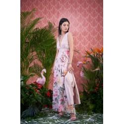 PDK -Abito da cerimonia rosa floreale
