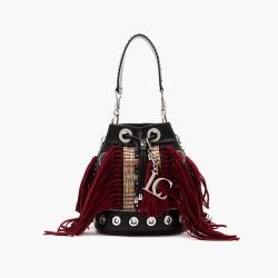 La Carrie - Bag secchiello con frange nero