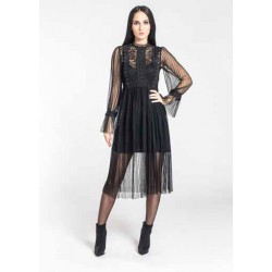 Louxury - Abito in tulle e pizzo
