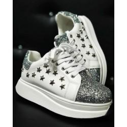 Gio Cellini - Sneakers borchie stelle con glitter