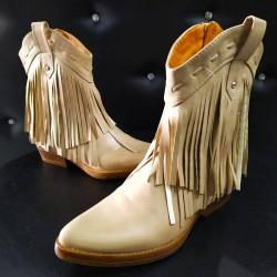 Stivali texano basso con frange