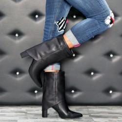 Stivali in ecopelle con ghette