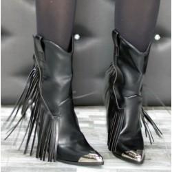 Stivali texano con frange