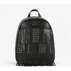 Gio Cellini - Zaino con frange nere e borchie - FF018